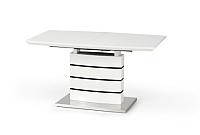 Обеденный стол Halmar Nord 140-180x80 (белый/черный) -