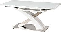 Обеденный стол Halmar Sandor 2 160-220x90 (белый) -