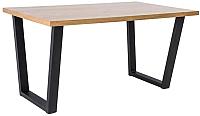Обеденный стол Signal Valentino 150x90 (дуб/черный) -
