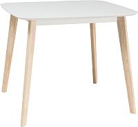 Обеденный стол Signal Tibi 90x80 (беленый дуб) -