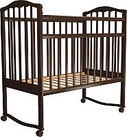 Детская кроватка Агат Золушка 1 New / 52102 (шоколад) -