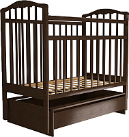 Детская кроватка Агат Золушка 4 (шоколад) -