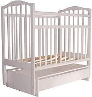 Детская кроватка Агат Золушка 4 (белый) -