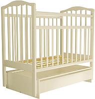 Детская кроватка Агат Золушка 4 (слоновая кость) -