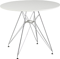 Обеденный стол Signal Nitro 90x90 (белый/хром) -