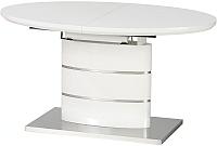 Обеденный стол Halmar Aspen 140-180x90 (белый) -