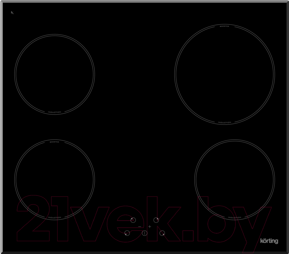 Купить Индукционная варочная панель Korting, HI 64021 B, Италия