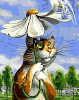 Картина по номерам Picasso Петербургские коты. Гадание на ромашке (PC4050302) -
