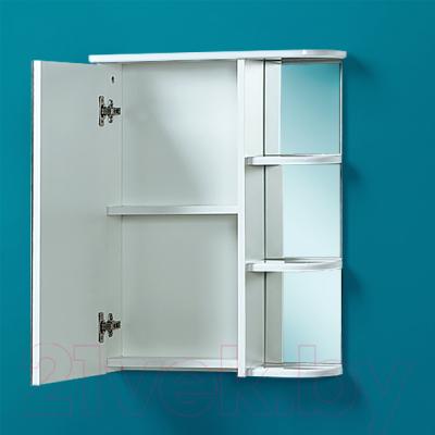 Шкаф с зеркалом для ванной Акваль Эмили 55 / AL.04.55.55.L