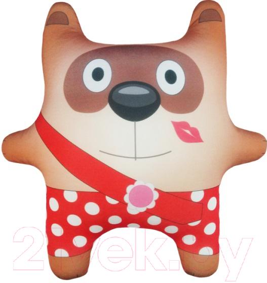 Купить Мягкая игрушка Мнушки, Медведь Любимчик / АБ000033, Россия, коричневый, трикотаж