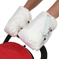 Рукавички для коляски Bambola 055В (белый) -