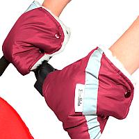Рукавички для коляски Bambola 055В (бордо) -