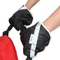 Рукавички для коляски Bambola 055В (черный) -