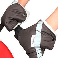 Рукавички для коляски Bambola 055В (шоколад) -