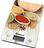 Кухонные весы Sakura SA-6077WS (специи/светлое дерево) -