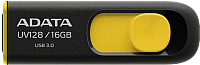 Usb flash накопитель A-data DashDrive UV128 Black/Yellow 16GB (AUV128-16G-RBY) -