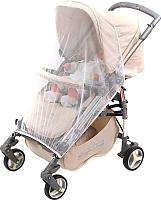 Москитная сетка для коляски Bambola Прогулка с клевантами (белый) -