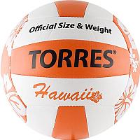 Мяч волейбольный Torres Hawaii V30075B 5 (белый/оранжевый/черный) -