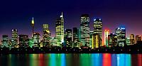 Фотообои листовые Твоя планета Ночной город (291x136) -