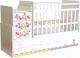 Детская кровать-трансформер Фея 1100 Прогулка (белый) -