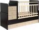 Детская кровать-трансформер Фея 1100 (венге/клен) -