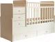 Детская кровать-трансформер Фея 1100 (слоновая кость) -
