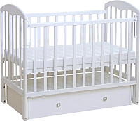 Детская кроватка Фея 328 (белый) -