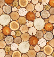 Фотообои Твоя планета Деревянная мозаика (194x204) -