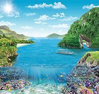 Фотообои листовые Твоя планета Коралловый риф (204x194) -