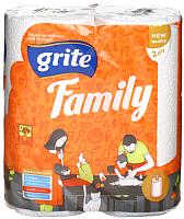 Бумажные полотенца Grite Family Mix (2рул) -