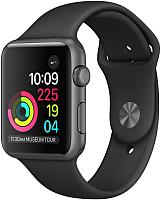 Умные часы Apple Watch Series 1 42mm / MP032 (алюминий серый космос/черный) -