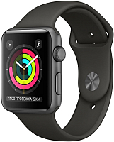 Умные часы Apple Watch Series 3 42mm / MR362 (алюминий серый космос/серый) -
