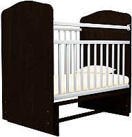Детская кроватка Агат Золушка 10 (шоколад/белый) -