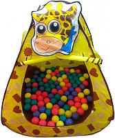 Детская игровая палатка Ching Ching Жираф CBH-11 (+ 100 шаров) -
