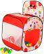 Детская игровая палатка Calida Квадрат с баскетбольным кольцом 626 (+ 100 шаров) -