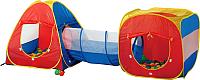 Детская игровая палатка Calida Конус/Квадрат/Туннель 629S (+ 100 шаров) -