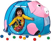 Детская игровая палатка Calida Поросенок 667 (+ 100 шаров) -