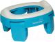 Детский горшок Roxy-Kids HandyPotty дорожный / HP-250B (голубой) -