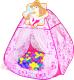 Детская игровая палатка Ching Ching Принцессы CBH-13 (+ 100 шаров) -