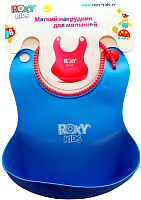 Нагрудник детский Roxy-Kids Мягкий / RB-401 (синий) -