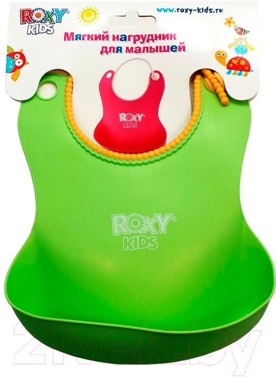 Купить Нагрудник детский Roxy-Kids, Мягкий / RB-401 (зеленый), Китай, пластик