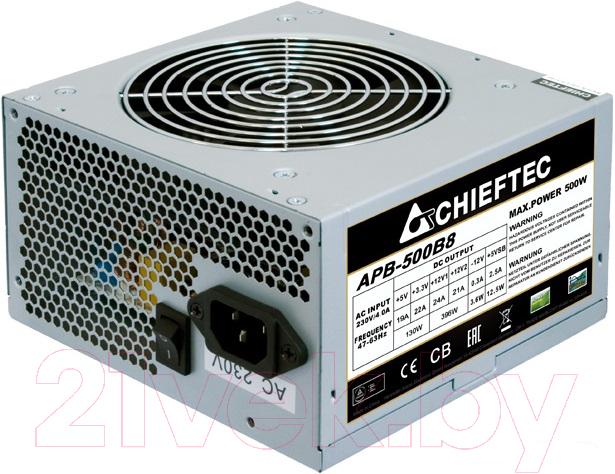 Купить Блок питания для компьютера Chieftec, Value APB-500B8 500W, Китай