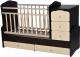 Детская кровать-трансформер Антел Ульяна-1 Жираф (венге/слоновая кость) -
