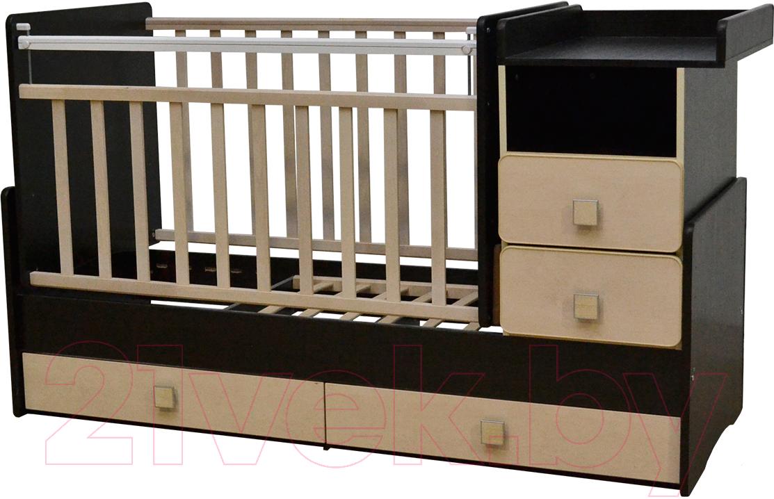 Купить Детская кровать-трансформер Антел, Ульяна-4 (венге/клен), Россия, массив дерева
