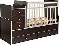 Детская кровать-трансформер Фея 1100 (венге с кромкой бежевый) -