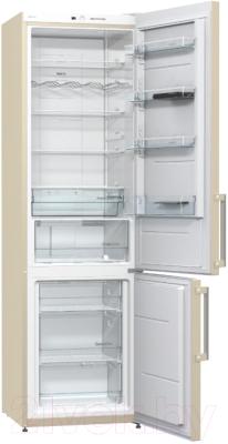Холодильник с морозильником Gorenje NRK6201GHC
