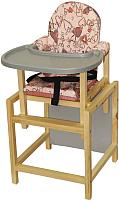 Стульчик для кормления Вилт СТД-0706 (розовый/серый) -