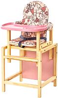 Стульчик для кормления Вилт СТД-0706 (розовый) -