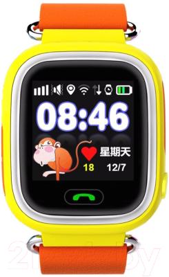 Умные часы детские Smart Baby Watch Q80 (желтый/оранжевый)