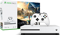 Игровая приставка Microsoft Xbox One S 1Tb + Assassin's Creed Origins / 234-00236 (+ Tom Clancy's Rainbow Six Siege) -